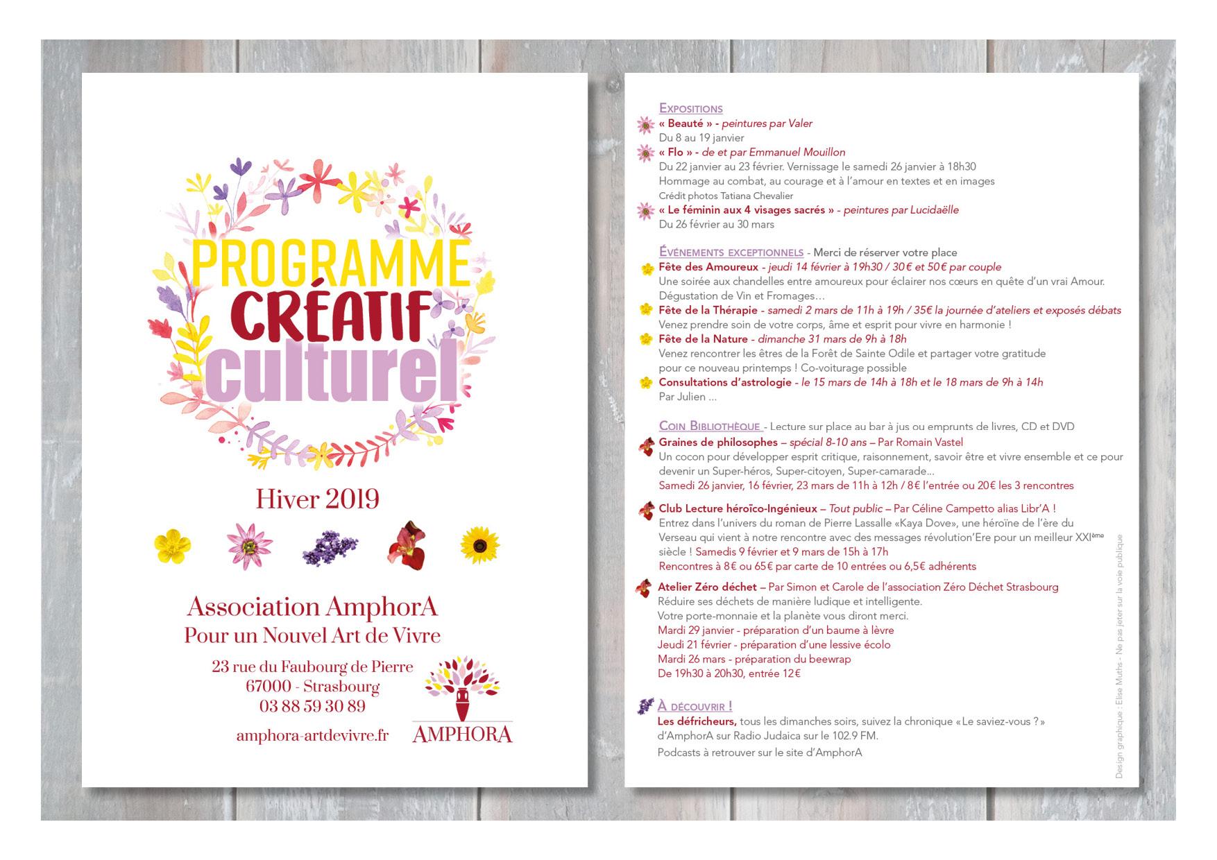 Programme créatif culturel / Association Amphora
