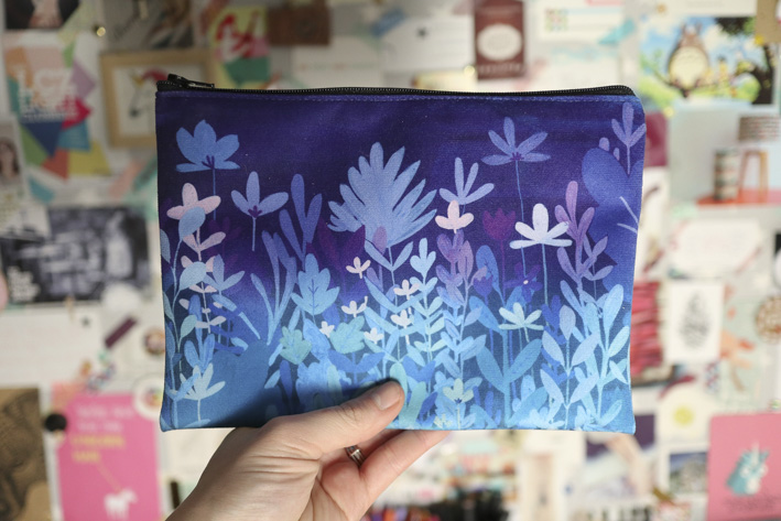 Feuillage bleu et violet